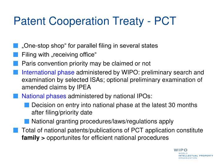 Patent Cooperation Treaty - PCT