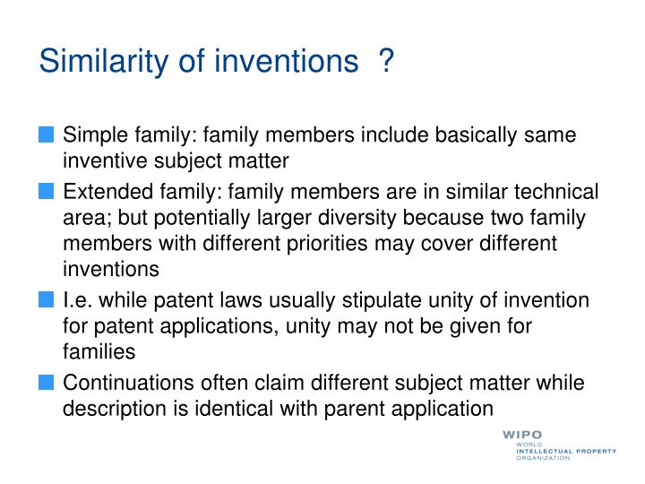 Similarity of inventions  ?