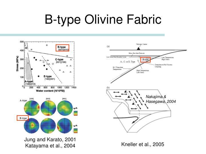 B-type Olivine Fabric