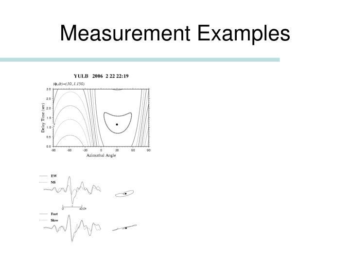 Measurement Examples