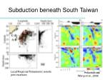 subduction beneath south taiwan