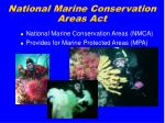 national marine conservation areas act