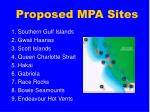 proposed mpa sites