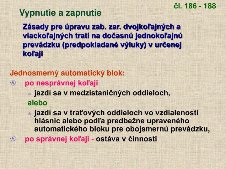 čl. 186 - 188