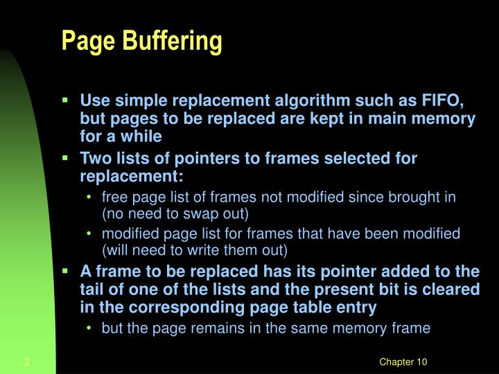 Page buffering