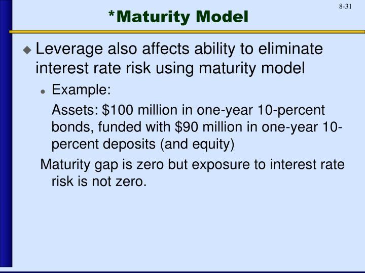 *Maturity Model