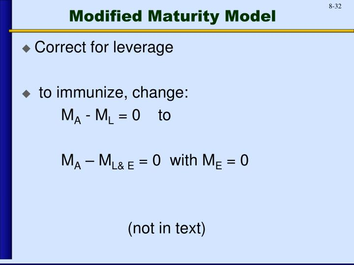 Modified Maturity Model