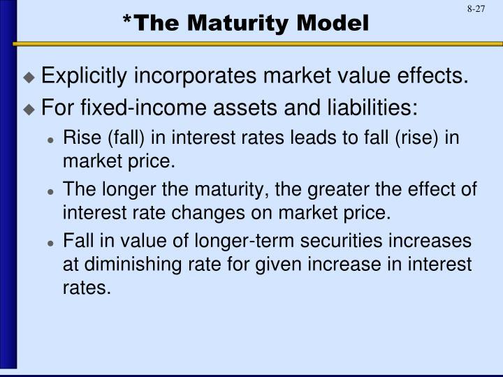 *The Maturity Model
