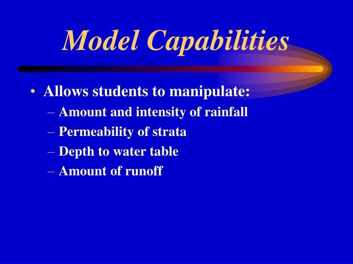 Model Capabilities