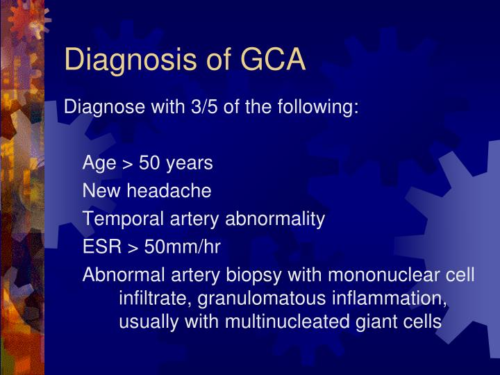 Diagnosis of GCA