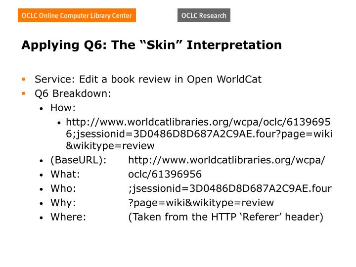 "Applying Q6: The ""Skin"" Interpretation"