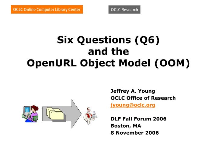 Six questions q6 and the openurl object model oom