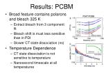 results pcbm