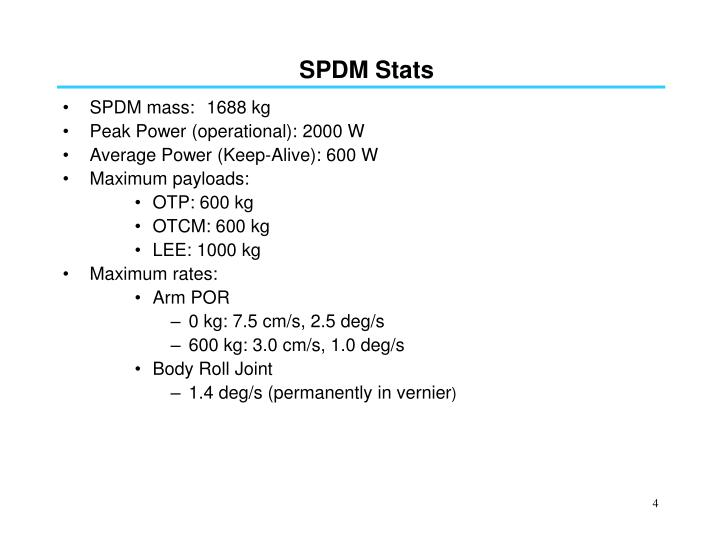 SPDM Stats
