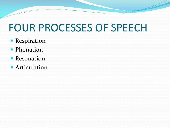 FOUR PROCESSES OF SPEECH
