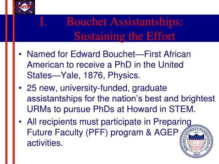 Bouchet Assistantships: