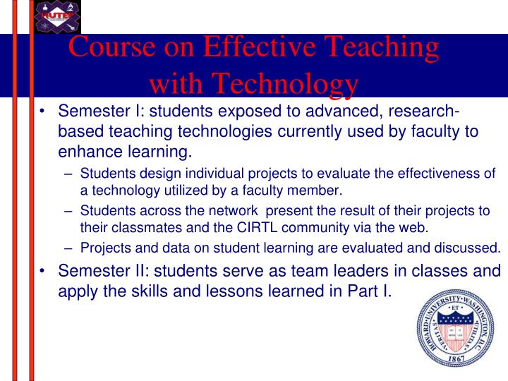 Course on Effective Teaching with Technology