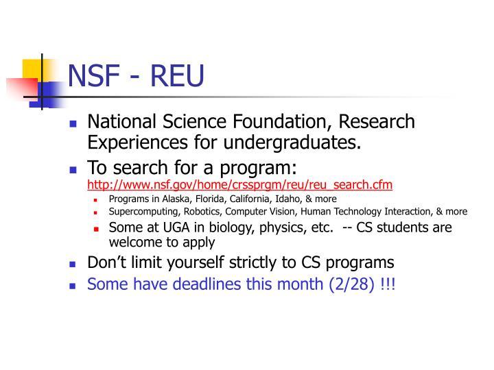 NSF - REU