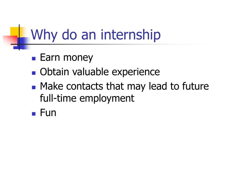 Why do an internship
