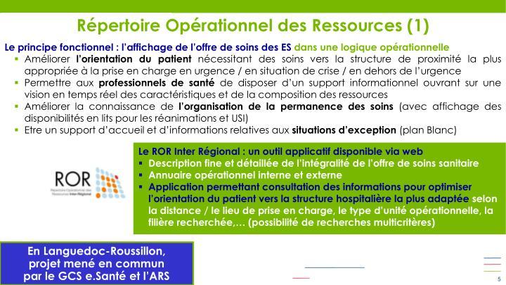 Répertoire Opérationnel des Ressources (1)