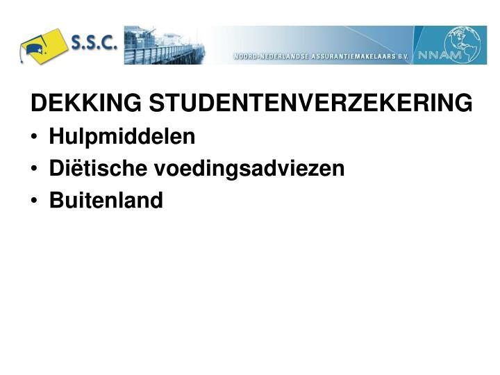 DEKKING STUDENTENVERZEKERING