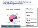 helse og velferd i trondheim kommune 5000 ansatte og 6300 brukere