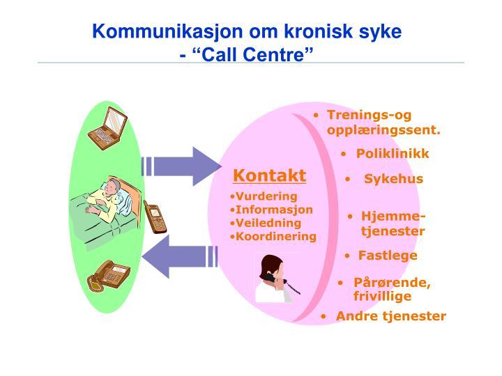 Kommunikasjon om kronisk syke