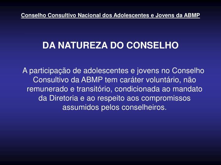 Conselho Consultivo Nacional dos Adolescentes e Jovens da ABMP