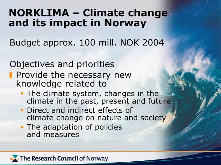 NORKLIMA – Climate change