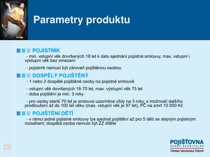 Parametry produktu