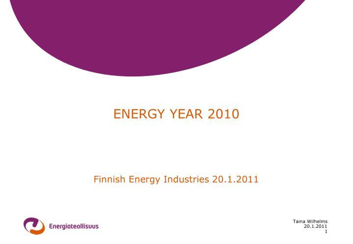 ENERGY YEAR 2010