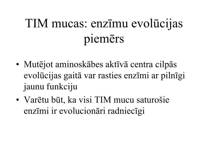 TIM mucas: enzīmu evolūcijas piemērs
