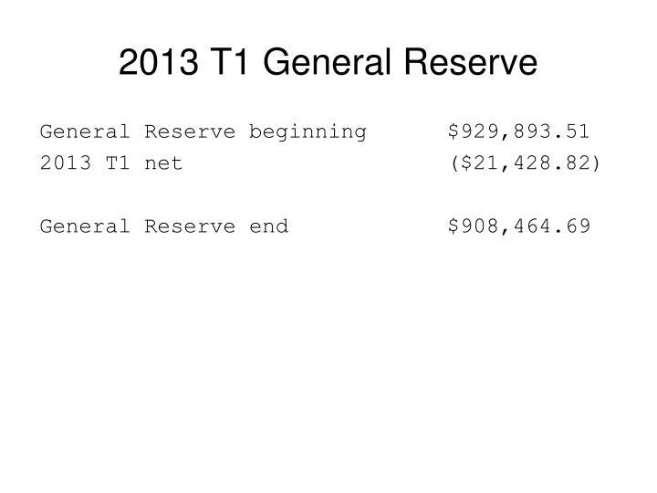 2013 T1 General Reserve