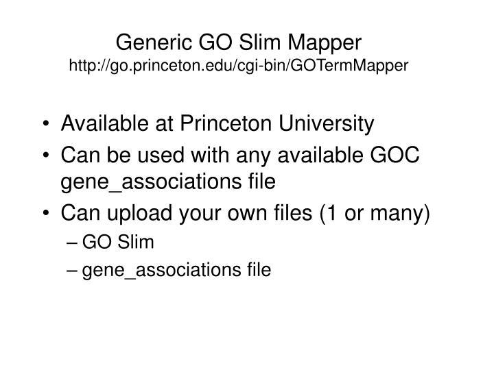 Generic GO Slim Mapper