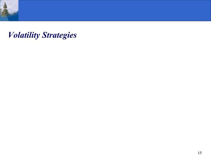 Volatility Strategies