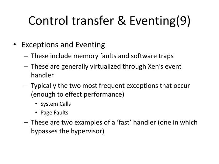 Control transfer & Eventing(9)