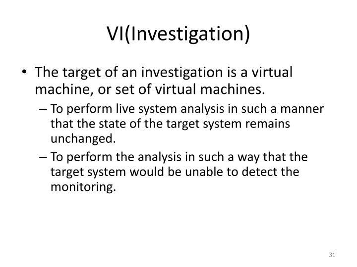 VI(Investigation)