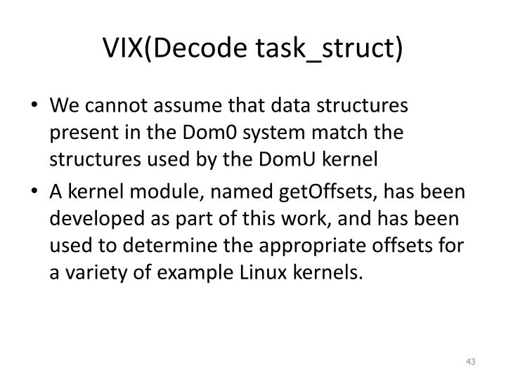 VIX(Decode task_struct)