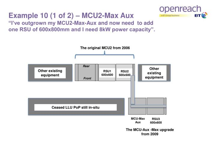 Example 10 (1 of 2) – MCU2-Max Aux