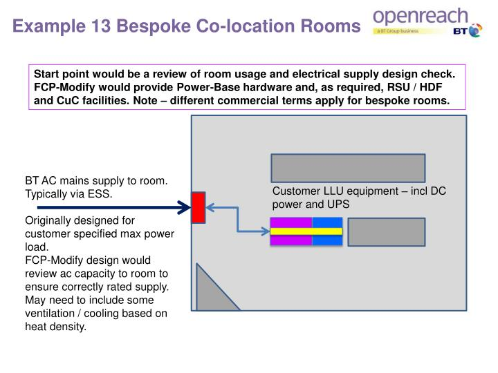 Example 13 Bespoke Co-location Rooms