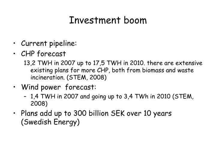 Investment boom