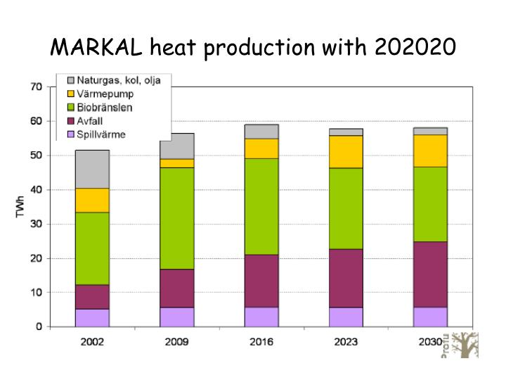 MARKAL heat production with 202020