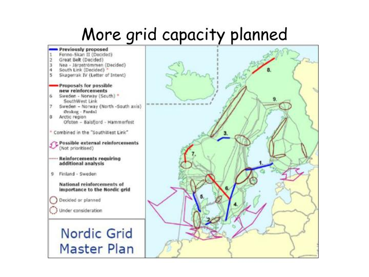 More grid capacity planned