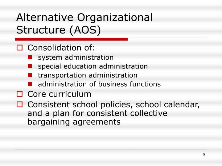 Alternative Organizational Structure (AOS)