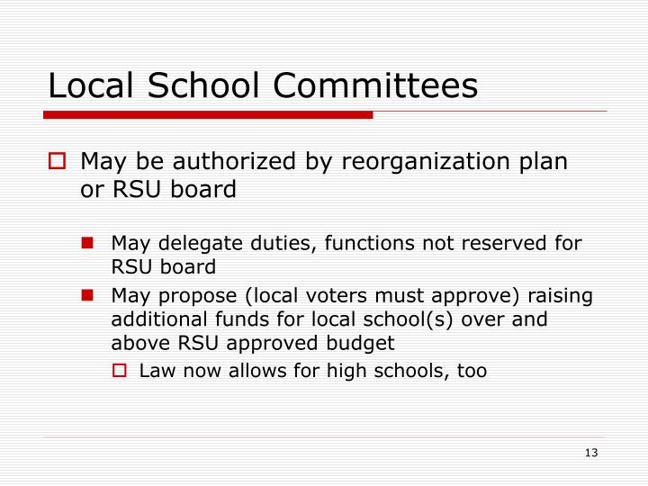 Local School Committees