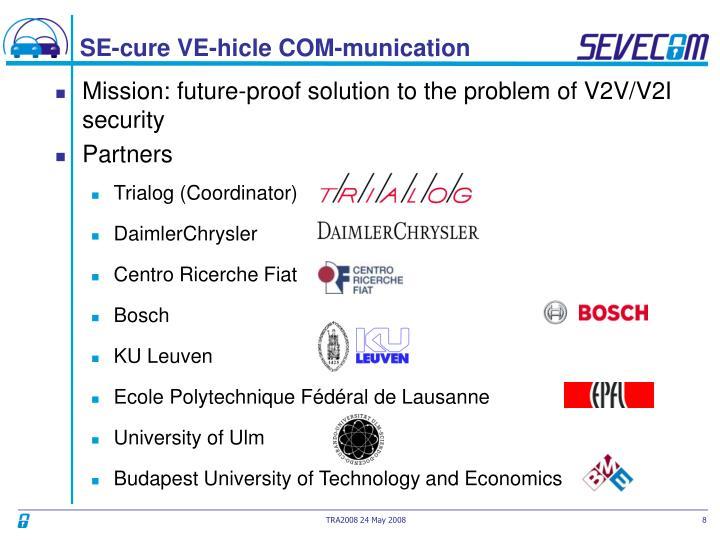 SE-cure VE-hicle COM-munication