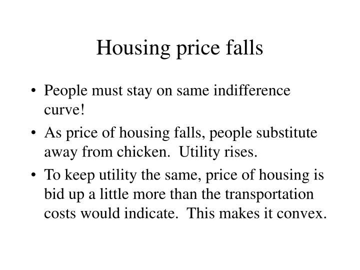 Housing price falls