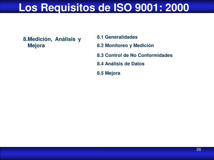 Los Requisitos de ISO 9001: 2000
