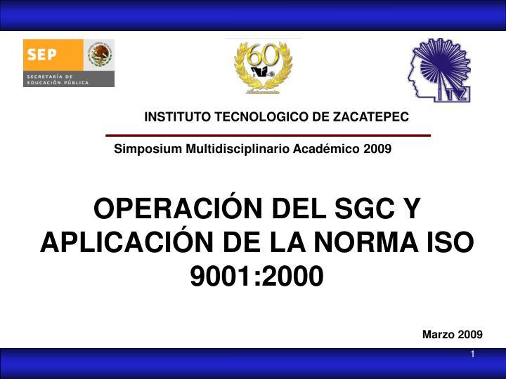 INSTITUTO TECNOLOGICO DE ZACATEPEC