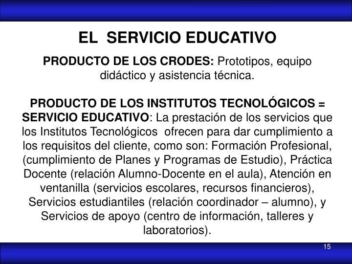 EL  SERVICIO EDUCATIVO
